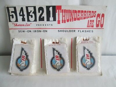 Thunderbirds Iron Onshoulder Flashes Gerry Anderson Captain Scarlet Joe 90