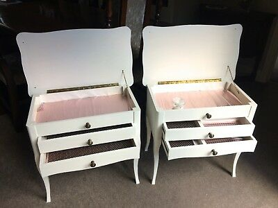 Pair Of French Bedside Cabinets - Painted Laura Ashley *ivory*
