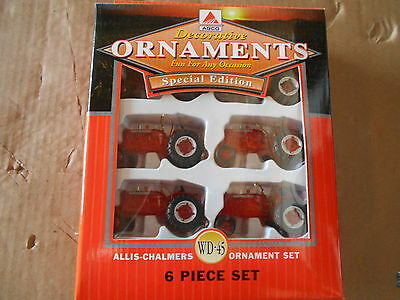 Allis Chalmers Wd-45 Christmas Tree Special Edition Ornament Set # 7001