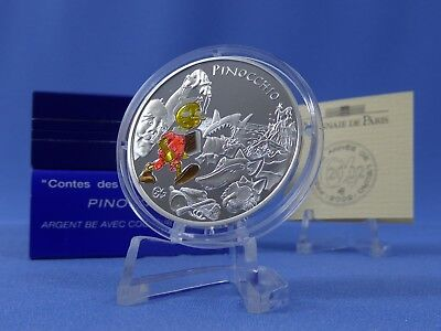 Frankreich 1 ½ Euro 2002,Pinocchio,Color,Silber **PP/Proof** (6519 )