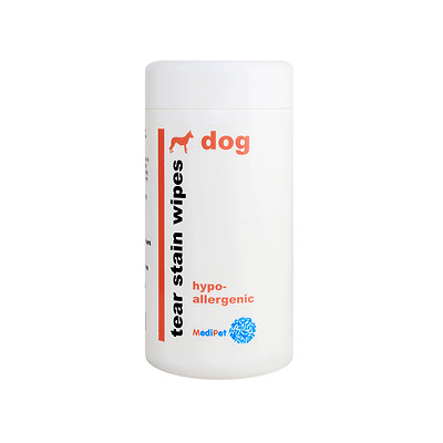 Medipet Tear Stain Dog Wipes - Hypo-Allergenic - 80 Sheets -  Mp702