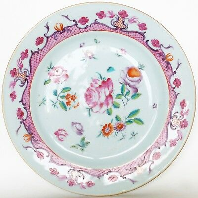 Plat Famille rose Qianlong Compagnie Indes 18ème / 18th Chinese export dish