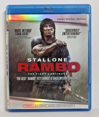 Rambo :The Fight Continues (Blu-ray Disc, 2008, 2-Disc Set, Special Edition)