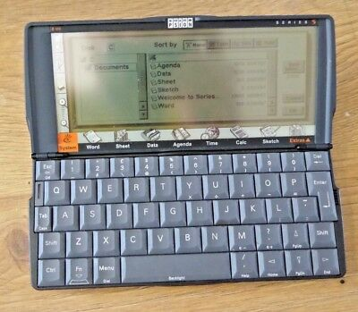 Vintage 1990s PSION SERIES 5 Handled Computer PDA
