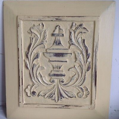 Pair Of Antique HandCarved Oak 19th Century Wooden Decorative Panels Shabby Chic