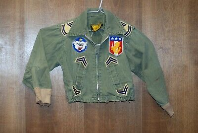 Childs Combat Jacket With Patches - #m10188
