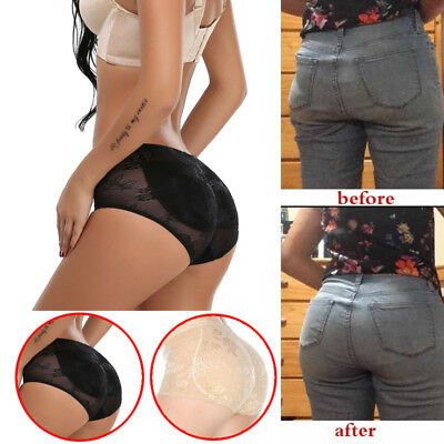 Women Padded Butt Lifter Panty Hip Enhancer Shaper Briefs Underwear Boyshorts BM