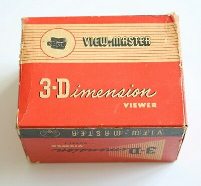 View-Master 3-Dimension Viewer Model E - Vintage Boxed