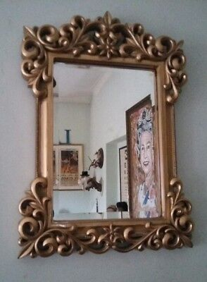 Vintage Antique Style  Gold Colour French Rococo Style Mirror-French Louis Look