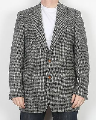 "Harris Tweed 42"" Medium Large Jacket Blazer Grey   (65D)"