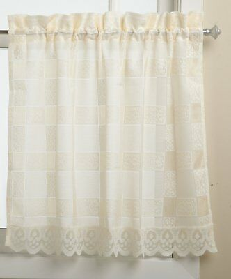 Lorraine Home Fashions Lace Calais 60-inch x 36-inch Tier Curtain Pair OR Swag