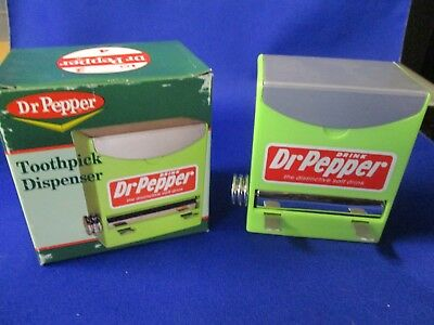 Dr Pepper Toothpick Dispenser With Attractive Classic Graphics