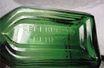 Vintage Walbridge Co Dunsmuir Remedy Cathedral Brand Green Glass Taiwan BOTTLE
