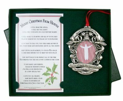 Merry Christmas From Heaven Photo Ornament 2195 Picclick