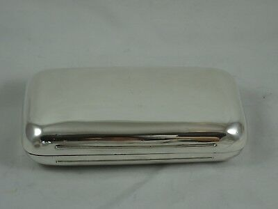 LARGE solid silver VICTORIAN CIGAR CASE, 1872, 261gm