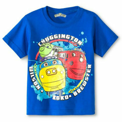 Chuggington Train Toddler Boys Graphic Birthday SS Tee Shirt 2t 3t 4t Blue NWT