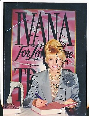 "IVANA TRUMP items; For Love Alone Book Signing-8"" x 10"" + 10  4""x6""-#339-1992"