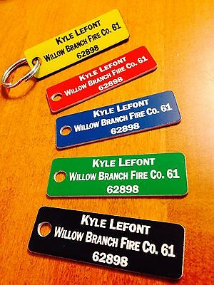 Fire Company Accountability Tags -Customized Set of 36 with rings/clips