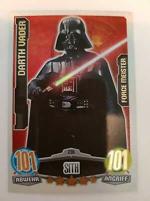 Star Wars Force Attax Movie Serie 1 Nr. 235 Darth Vader 101/101
