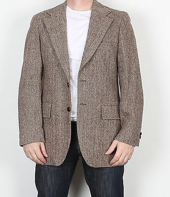 "Harris Tweed 40"" Medium Jacket Blazer Brown (F3B)"