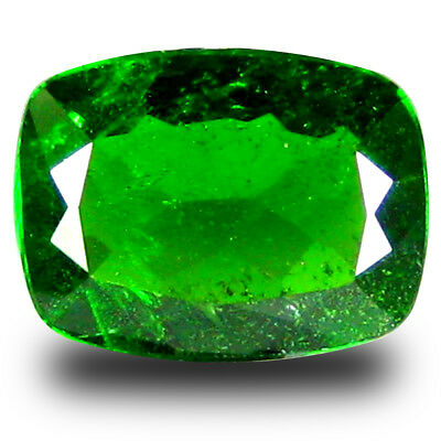 1.30 ct Gorgeous Cushion Shape (8 x 6 mm) Green Chrome Diopside Loose Gemstone