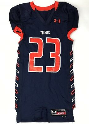 96430db3b ... official store new under armour auburn tigers armourfuse mens m football  jersey navy 23 3a8fc a137c