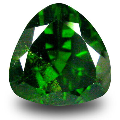 2.89 ct Impressive Trillion Shape (9 x 9mm) Green Chrome Diopside Loose Gemstone