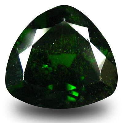 2.75 ct Five-star Trillion Shape (9 x 9 mm) Green Chrome Diopside Loose Gemstone