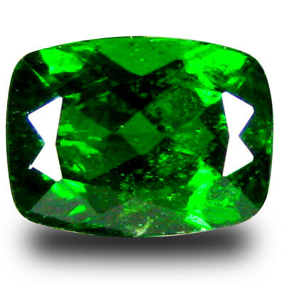 1.71 ct Superior Cushion Shape (8 x 6 mm) Green Chrome Diopside Loose Gemstone