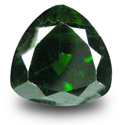 3.05 ct Eye-popping Trillion (9 x 9 mm) Green Chrome Diopside Loose Gemstone