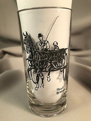 Paul Brown Drinking Glass, Saddlebred Horse Pulls Carriage W/ Dalmatian, Item #4