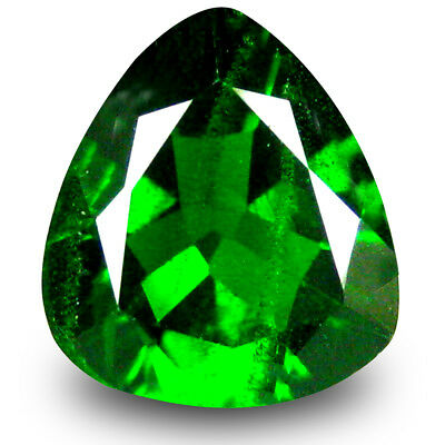 2.15 ct Romantic Trillion Shape (9 x 9 mm) Green Chrome Diopside Loose Gemstone