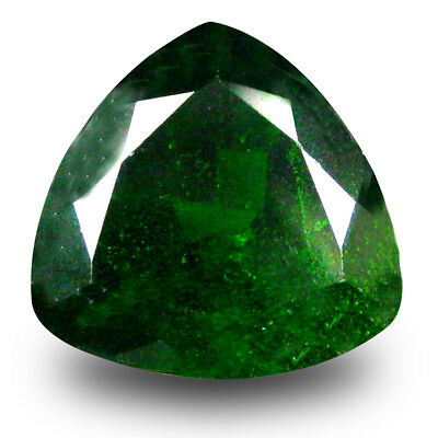 2.72 ct Fantastic Trillion Shape (9 x 9 mm) Green Chrome Diopside Loose Gemstone