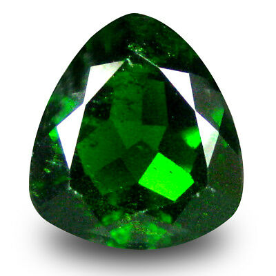 3.04 ct Eye-opening Trillion (9 x 9 mm) Green Chrome Diopside Loose Gemstone