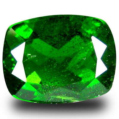 1.94 ct Fair Cushion (9 x 7 mm) Green Chrome Diopside Natural Loose Gemstone