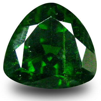 2.88 ct Superb Trillion (9 x 9 mm) Green Chrome Diopside Natural Loose Gemstone
