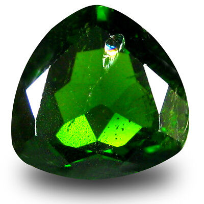 2.54 ct Impressive Trillion Shape (9 x 9mm) Green Chrome Diopside Loose Gemstone