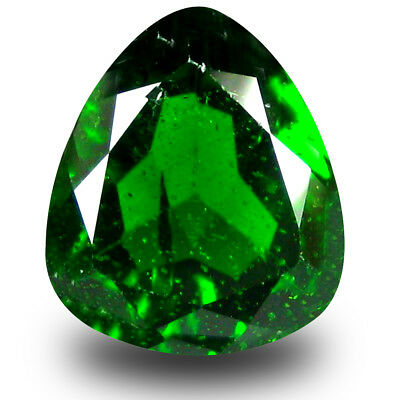 2.73 ct Eye-popping Trillion (9 x 9 mm) Green Chrome Diopside Loose Gemstone