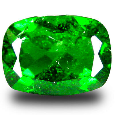 1.53 ct Charming Cushion Shape (8 x 6 mm) Green Chrome Diopside Loose Gemstone