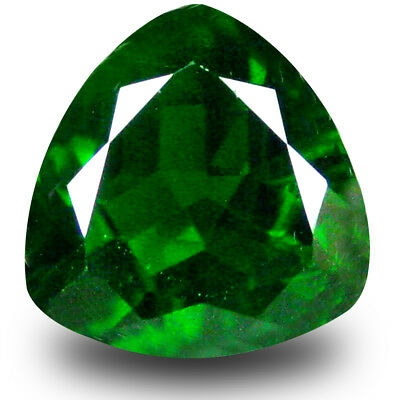 2.71 ct Fair Trillion Shape (9x9mm) Green Chrome Diopside Natural Loose Gemstone