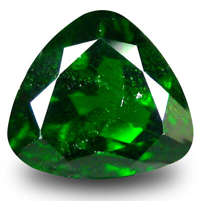 3.03 ct Eye-catching Trillion Shape (9x9mm) Green Chrome Diopside Loose Gemstone