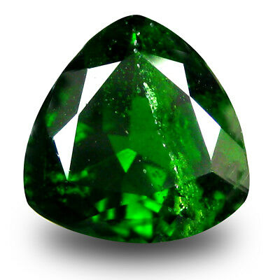 2.66 ct Marvelous Trillion Shape (9 x 9 mm) Green Chrome Diopside Loose Gemstone