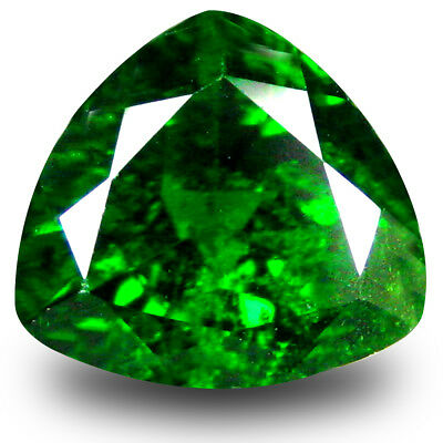2.63 ct Mind-Boggling Trillion (9 x 9 mm) Green Chrome Diopside Loose Gemstone