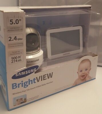 """Samsung Bright View wireless pan tilt zoom video baby monitor, 5""""LCD monitor"""