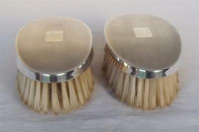 A Lovely Pair Of Vintage Sterling Silver Grooming Brushes Birmingham 1986.