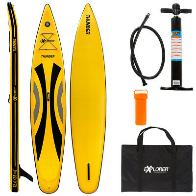 Explorer 2018 Thunder 12.6 Race Sup Stand Up Paddle Board Inflatable Pumpe Isup