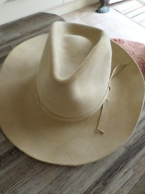 Vintage Cream 'bailey' Stetson Hat Given To Me In 1978 By Us Millionaire !!