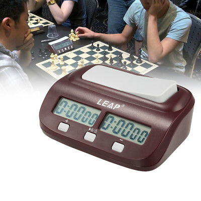 LEAP Digital Chess Clock Count Up Down Timer Game Competition Clock with Alarm