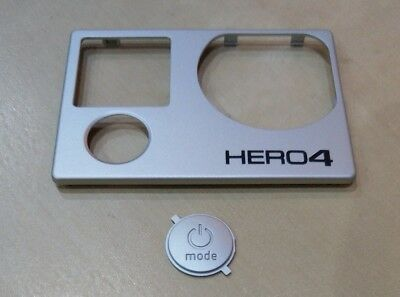 New Pro Silver Front Faceplate Cover For GoPro Hero 4