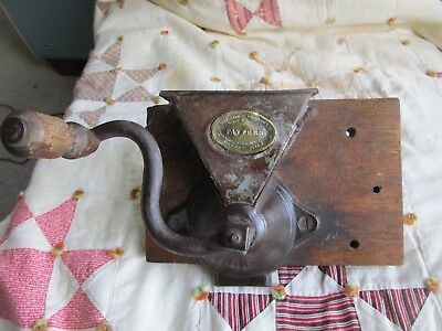 Antique  H. Wilson's Improved Coffee Mill Grinder 1800